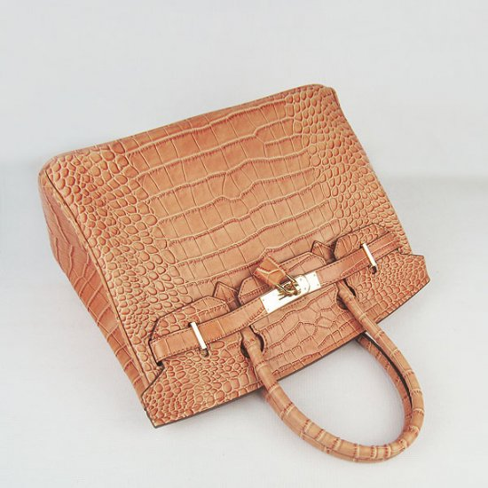 Hermes Handbags Birkin 30 CM Orange Crocodile Bag - Click Image to Close
