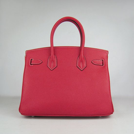 Hermes Handbags Birkin 30 CM Red Lichee Pattern Bag - Click Image to Close