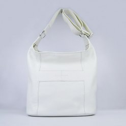 Hermes Handbags Picotin H2801 White Cowskin Leather Silver Hardware Bag
