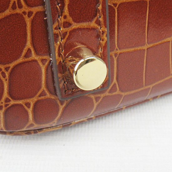 Hermes Handbags Birkin 30 CM Red Brown New Crocodile Veins Bag - Click Image to Close