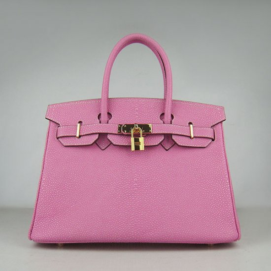 Hermes Handbags Birkin 30 CM Rose Red Pearl Stripe Bag - Click Image to Close