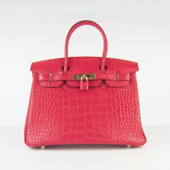 Hermes Handbags Birkin 30 CM Red Crocodile Bag