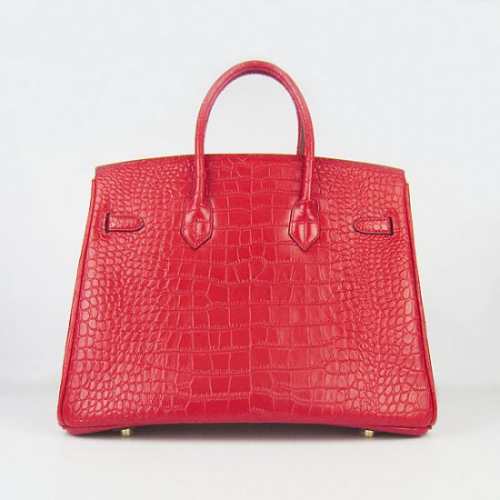Hermes Handbags Birkin 35 CM Red Crocodile Bag - Click Image to Close