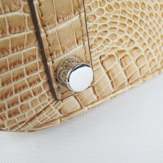 Hermes Handbags Birkin 30 CM Khaki Crocodile Scalp Bag - Click Image to Close