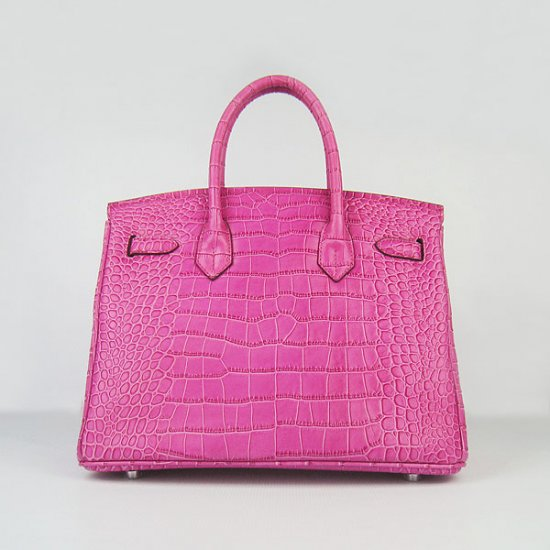 Hermes Handbags Birkin 30 CM Peach Crocodile Bag - Click Image to Close