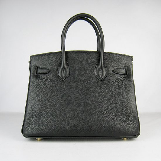 Hermes Handbags Birkin 30 CM Black Lichee Pattern Bag - Click Image to Close