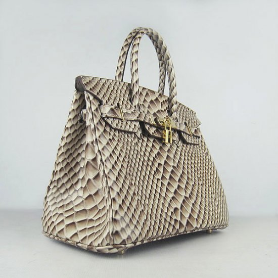 Hermes Handbags Birkin 30 CM Gray Fish Stripe Bag - Click Image to Close