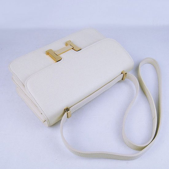 Hermes Handbags Constance Beige Cowskin Leather Gold Hardware Bag - Click Image to Close