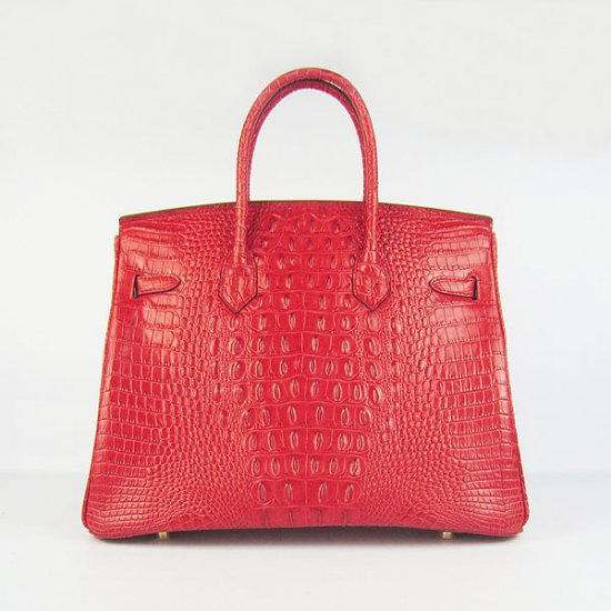Hermes Handbags Birkin 35 CM Red Crocodile Scalp Bag - Click Image to Close