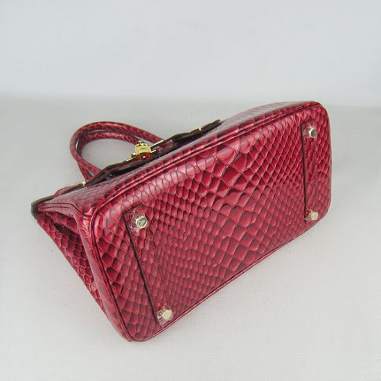 Hermes Handbags Birkin 30 CM Red Fish Stripe Bag - Click Image to Close