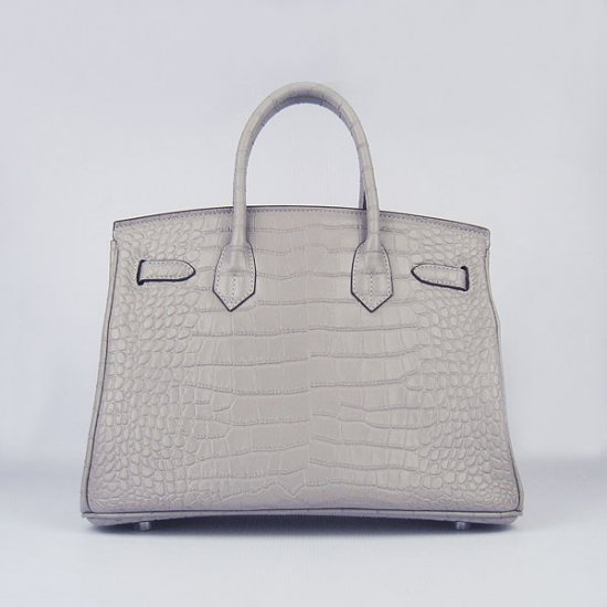 Hermes Handbags Birkin 30 CM Gray Crocodile Bag - Click Image to Close