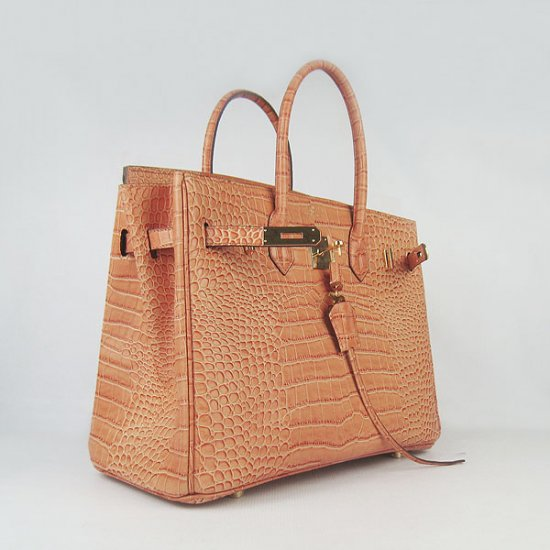Hermes Handbags Birkin 35 CM Orange Crocodile Bag - Click Image to Close