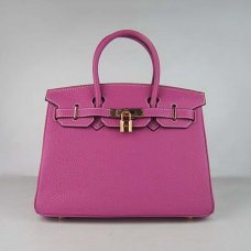 Hermes Handbags Birkin 30 CM Peach Lichee Pattern Bag