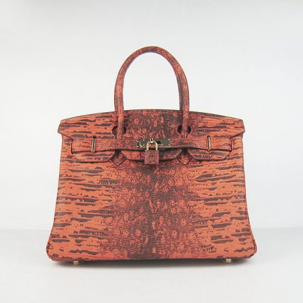 Hermes Handbags Birkin 30 CM Orange Cabrite Bag