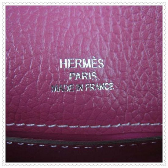 Hermes Handbags Kelly 22CM Peach Lichee Stripe Leather Silver Hardware Bag - Click Image to Close