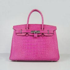 Hermes Handbags Birkin 30 CM Peach Crocodile Bag