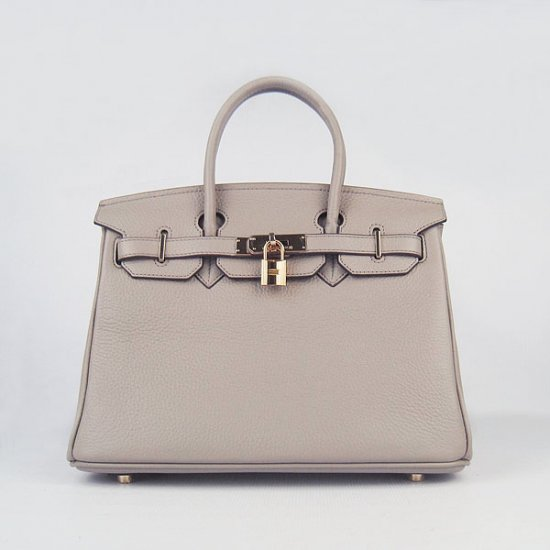 Hermes Handbags Birkin 30 CM Gray Lichee Pattern Bag - Click Image to Close