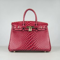 Hermes Handbags Birkin 30 CM Red Fish Stripe Bag
