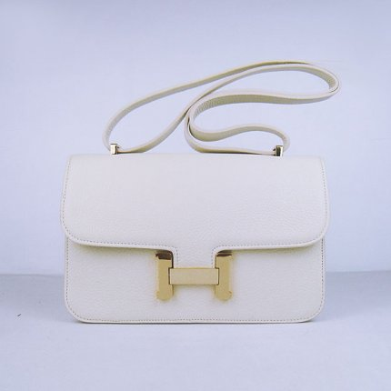 Hermes Handbags Constance Beige Cowskin Leather Gold Hardware Bag