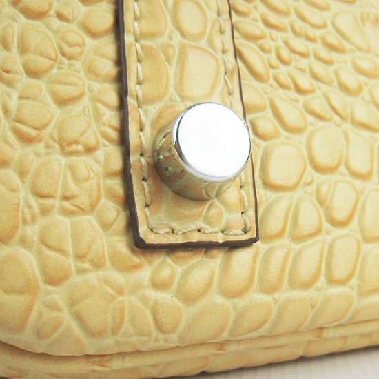 Hermes Handbags Birkin 30 CM Beige Crocodile Bag - Click Image to Close