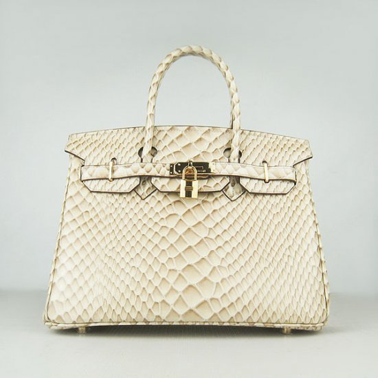 Hermes Handbags Birkin 30 CM Beige Fish Stripe Bag - Click Image to Close