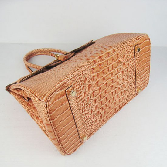 Hermes Handbags Birkin 35 CM Orange Crocodile Scalp Bag - Click Image to Close
