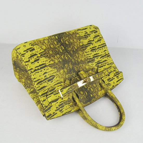 Hermes Handbags Birkin 30 CM Yellow Cabrite Bag - Click Image to Close